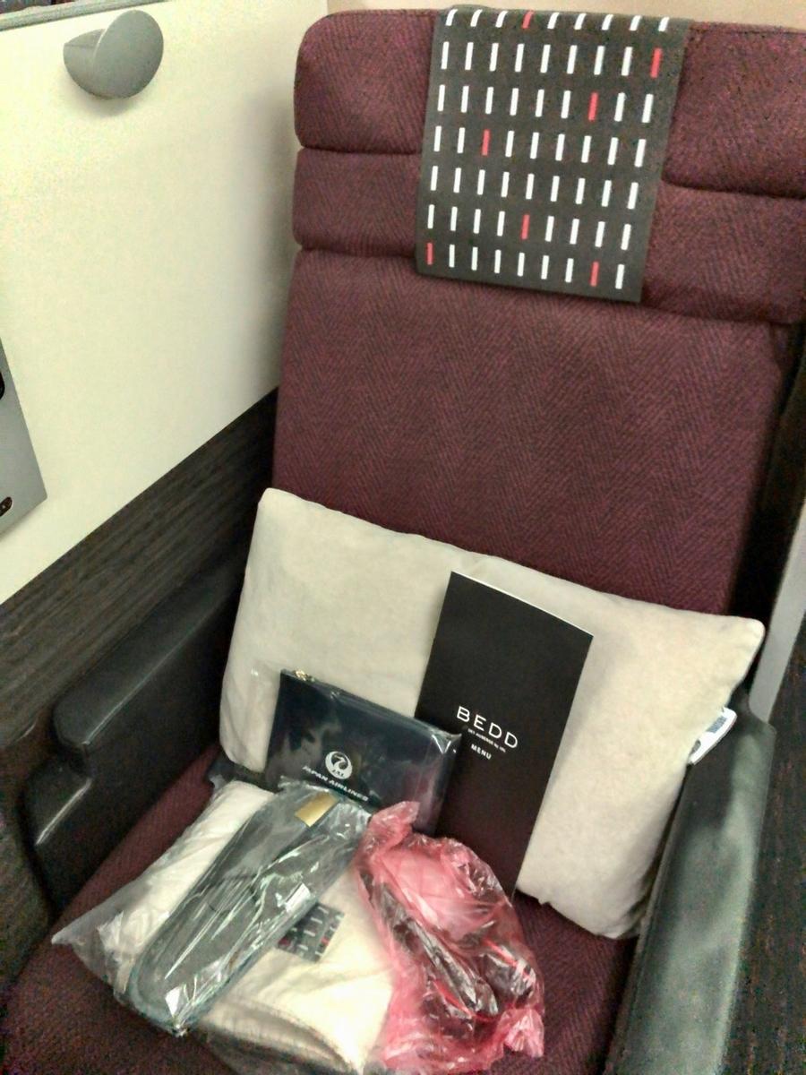 ビジネスクラス座席(JAL SKY SUITE)