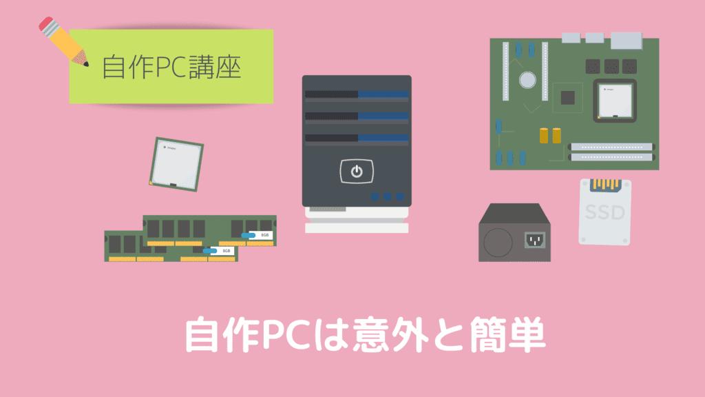 自作PCの組み立ては意外と簡単 タイトル
