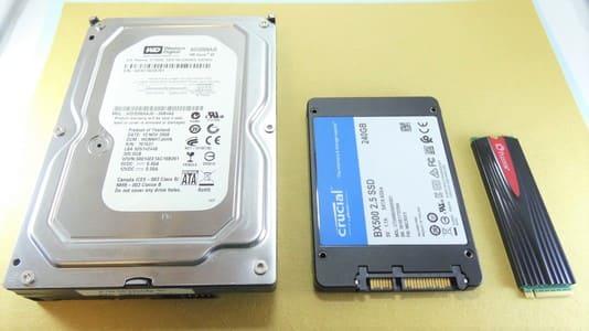 自作PC ハードディスクとSSD