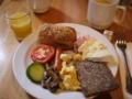 [北欧旅行]コペンハーゲンでの朝食