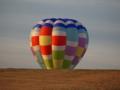 [熱気球]冬の渡良瀬遊水池 夕暮れの気球