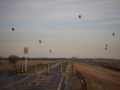 [熱気球]夕暮れの気球