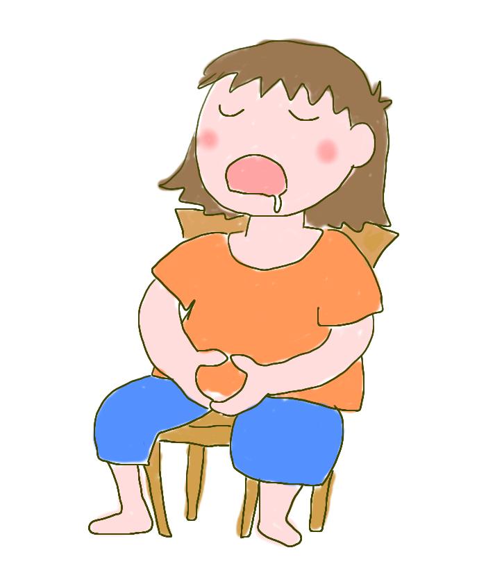 椅子座禅で眠りこけるイラスト