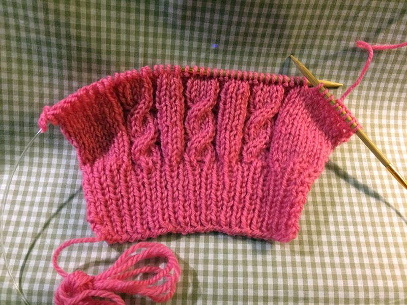 編み物:袖の写真