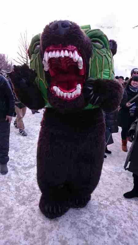 札幌雪まつりメロン熊
