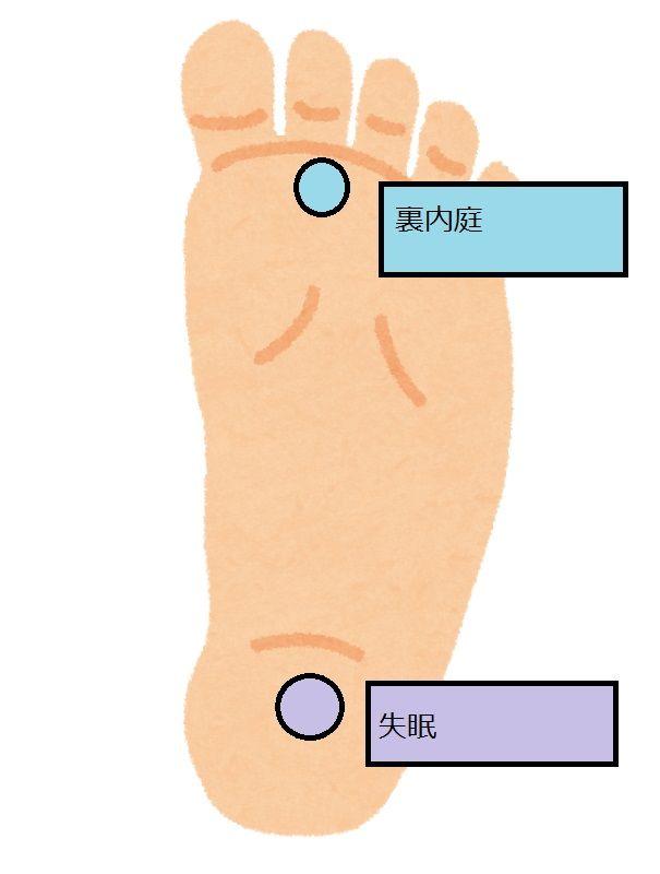 札幌訪問鍼灸治療院失眠と裏内庭