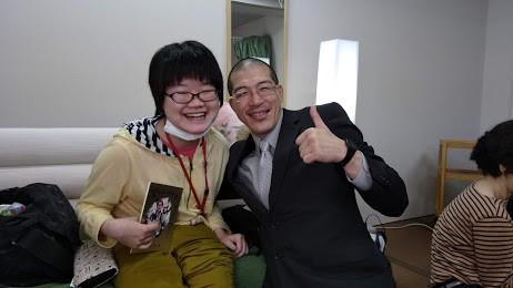 鍼灸院くらさろにて車椅子自由人森居祐木さん