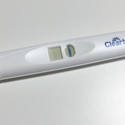クリアブルー妊娠検査薬_使用の翌日