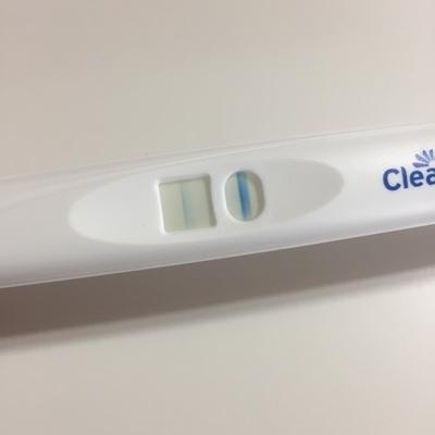 残クリアブルー妊娠検査薬の陽性