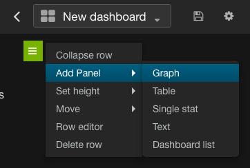 Add graph menu