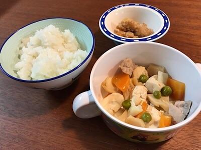 子供用の夕食1