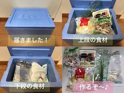 ヨシケイカットミール届いた食材