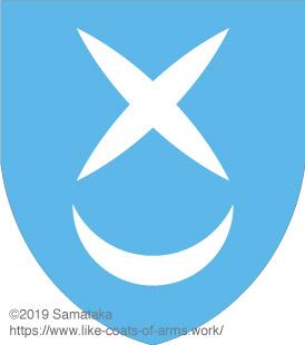 X & a crescent