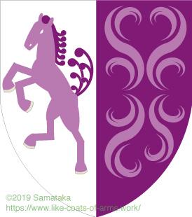 horse & purple flame