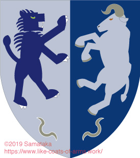 blue lion & white ox