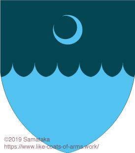moon on the sea