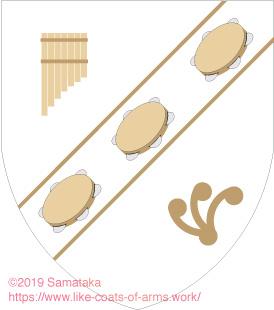three tambourines