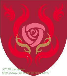 rose in fire