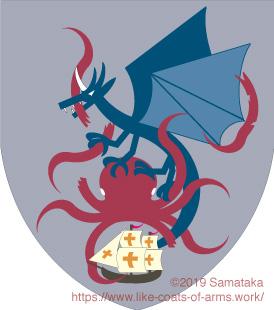 dragon killing a kraken