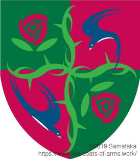 swallows & roses
