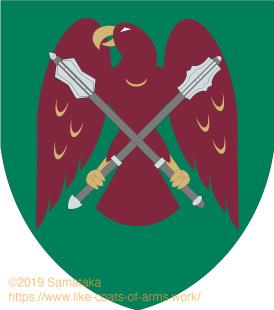 eagle having two maces