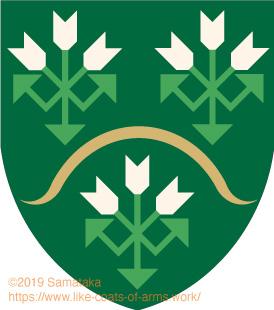 three plants shaped like arrows