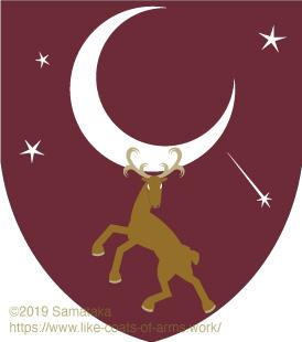 moon & reindeer