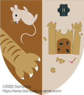 a mouse & a castle collapsing