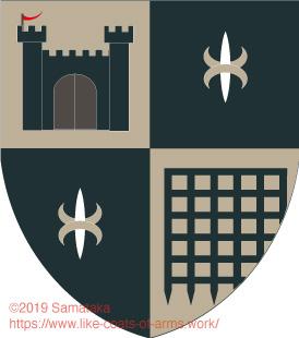 black castle & portcullis