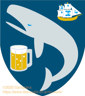 a whale & a beer & a ship