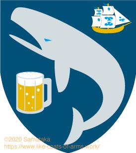 a whale & a beer & a ship