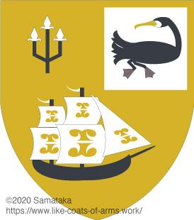 a cormorant & a ship
