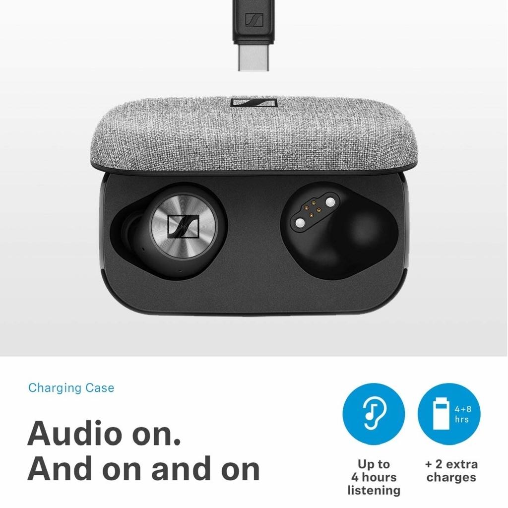 ゼンハイザー Bluetooth 完全ワイヤレスイヤフォン MOMENTUM True Wireless の収納・充電ケース