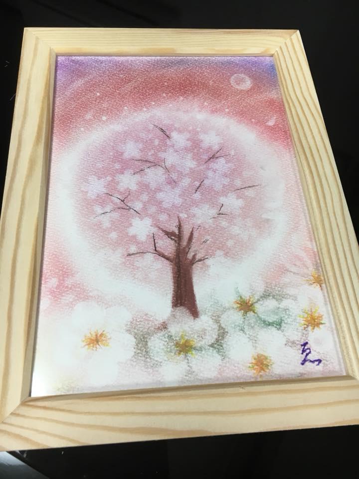 パステル出張講座 受講生様の作品 桜