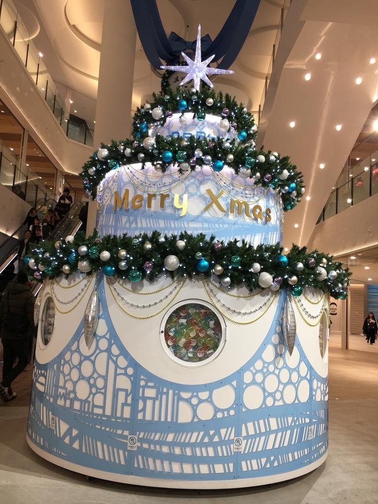 ブルーのクリスマスデコレーション