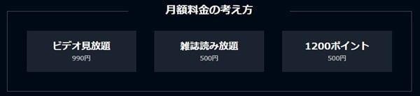 U-NEXTの料金内訳
