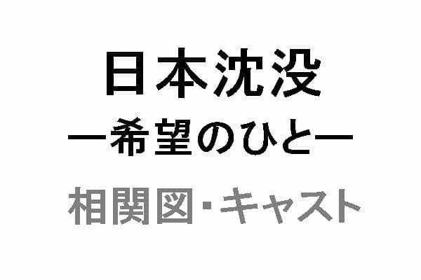 TBS日曜劇場「日本沈没ー希望のひとー」の相関図・キャスト