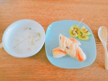 洋食の朝食プレート