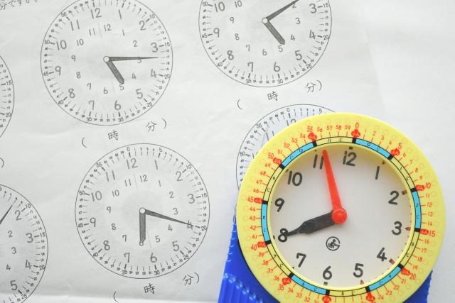 学習時計と時計のプリント