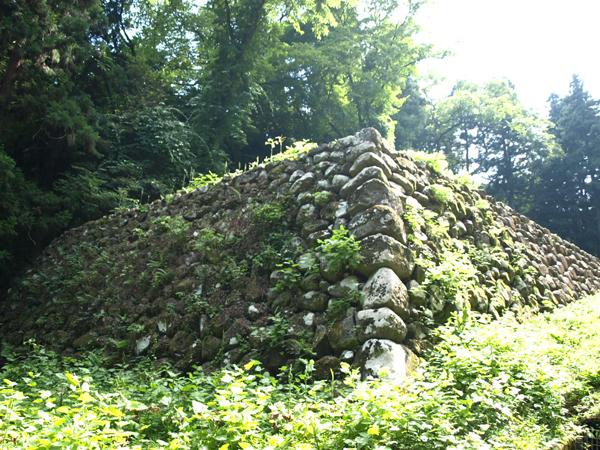 仙台市博物館に向かう途中の石垣。