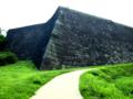 青葉城の石垣。