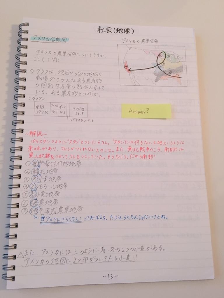 中学生のおすすめノート