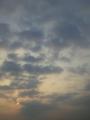 今日の西の空
