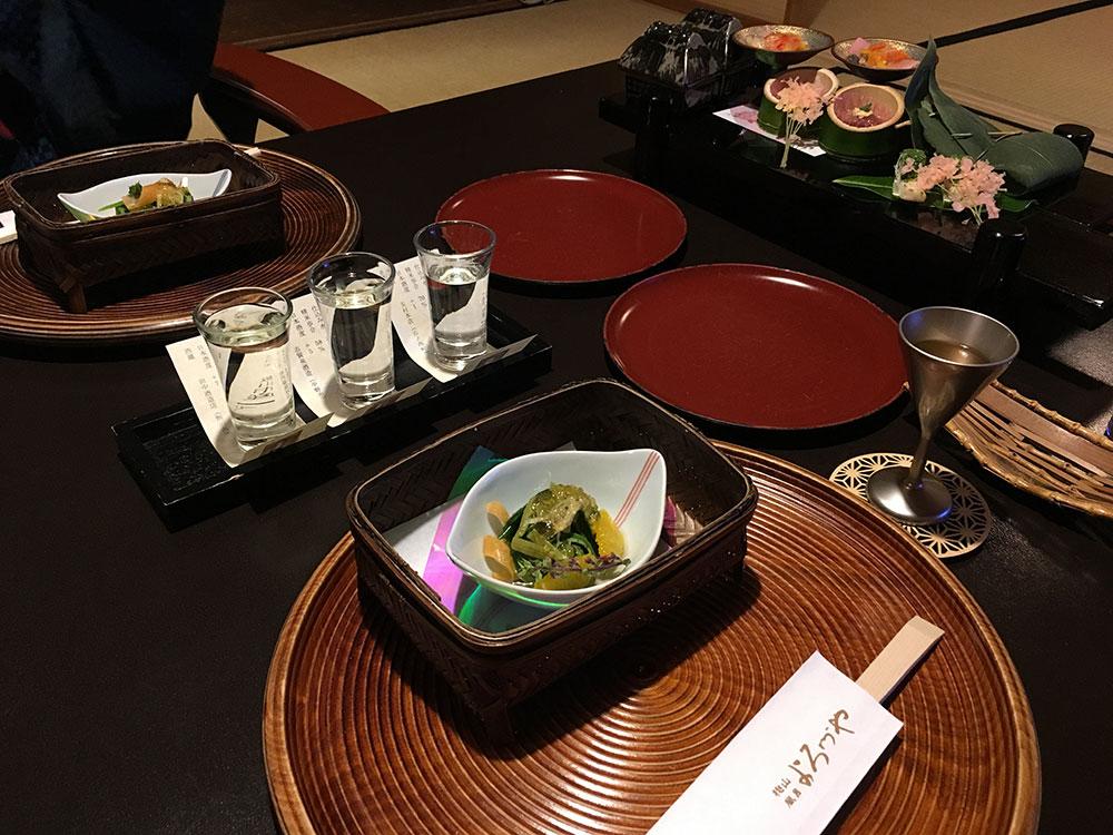 夕食 日本酒お試し