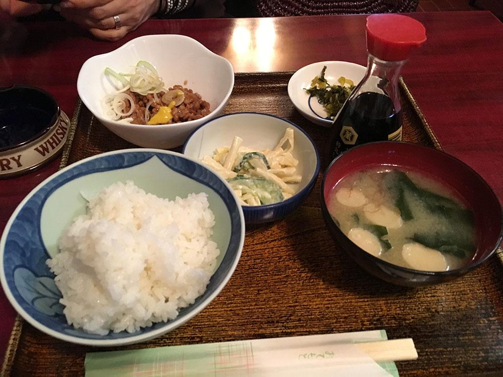 バッカス 納豆定食写真
