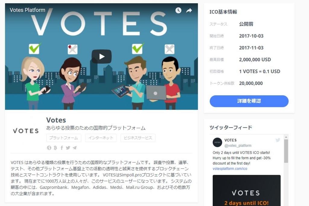 VotesのICO
