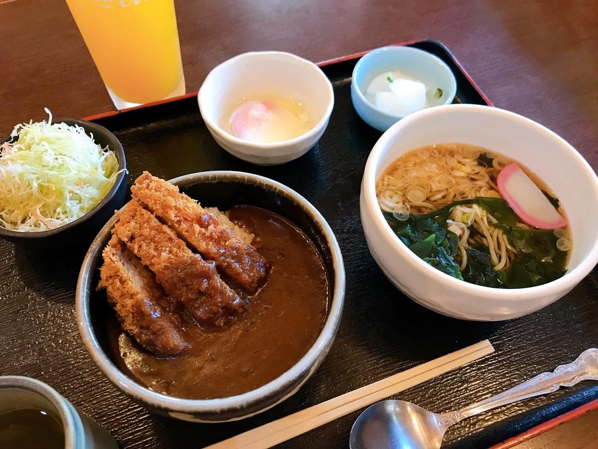 稲城・季乃彩・カツカレー・きつねうどん