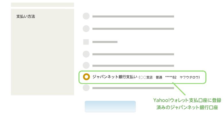 Yahooかんたん決済 ジャパンネット銀行支払い