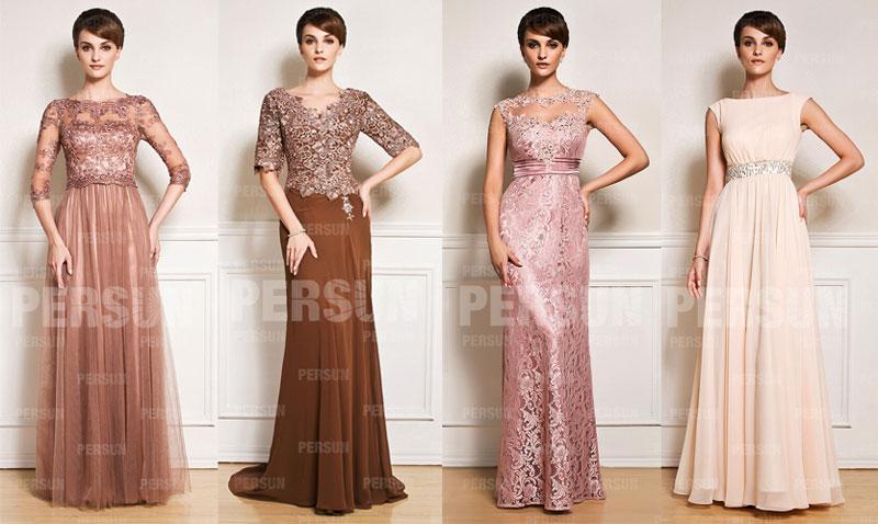 robes de soirée longues pour mère de mariée