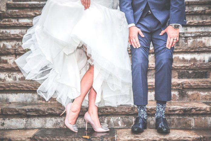 escarpins rose pour mariée à talon haut